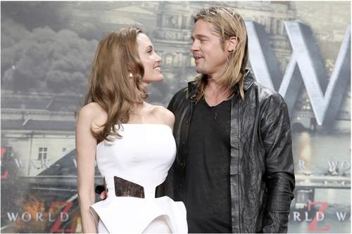 Angelina Joley und Brad Pitt