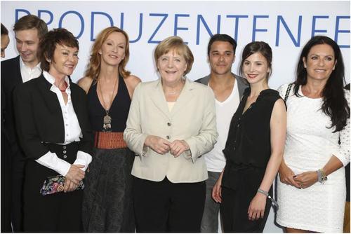 Angela Merkel auf dem Produzentenfest